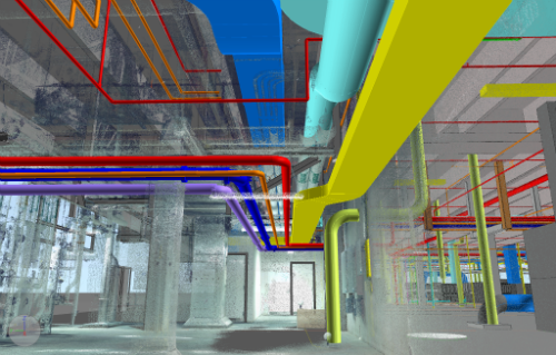 laser scan and MEP BIM