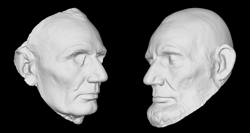 Lincoln Life Masks, National Portrait Gallery. Courtesy Smithsonian Digitization Program Office.